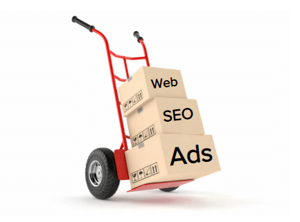 Moving leads provider ads and SEO boxes